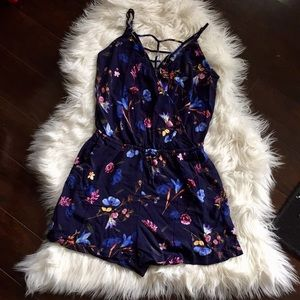 Floral Romper- Size Small